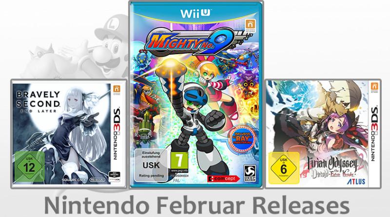 Nintendo Game Releases Februar 2016