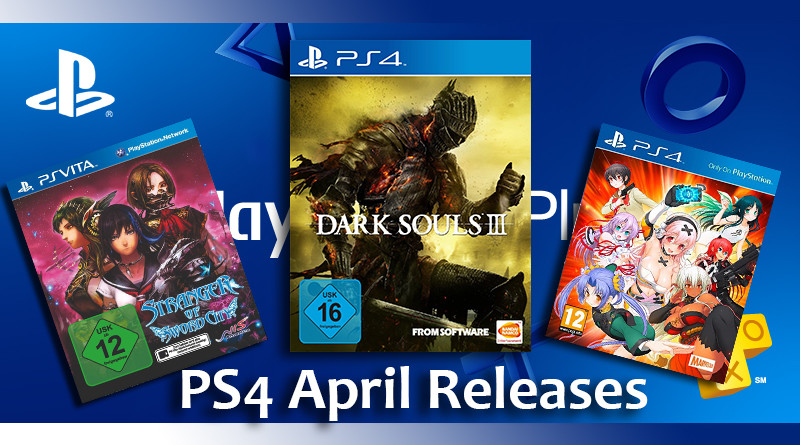 Sony Playstation 4 und Vita Release Liste April 2016